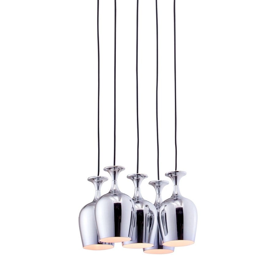 Zuo Modern Ice 17-in Chrome Multi-Light Bell Pendant