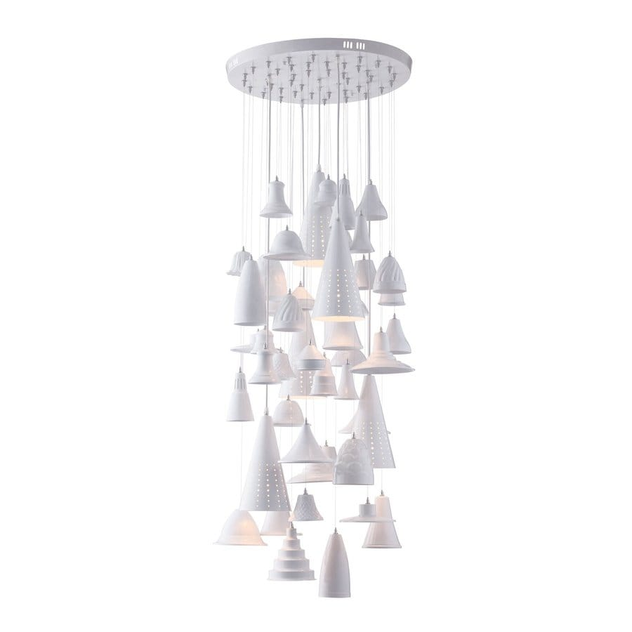 Zuo Modern Climate 22-in White Multi-Light Bell Pendant