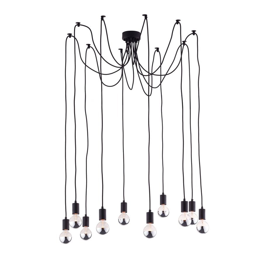 Zuo Modern Fog 21.7-in Black Industrial Multi-Light Pendant