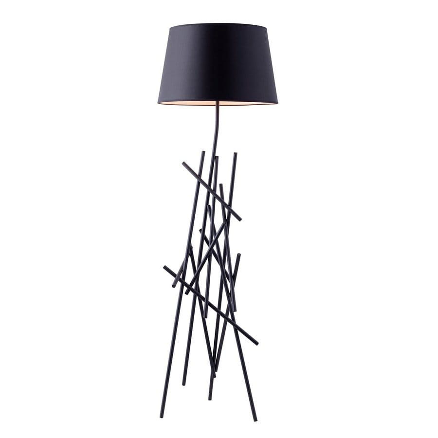 Shop Zuo Modern Drought 63.4-in Black Indoor Floor Lamp ...