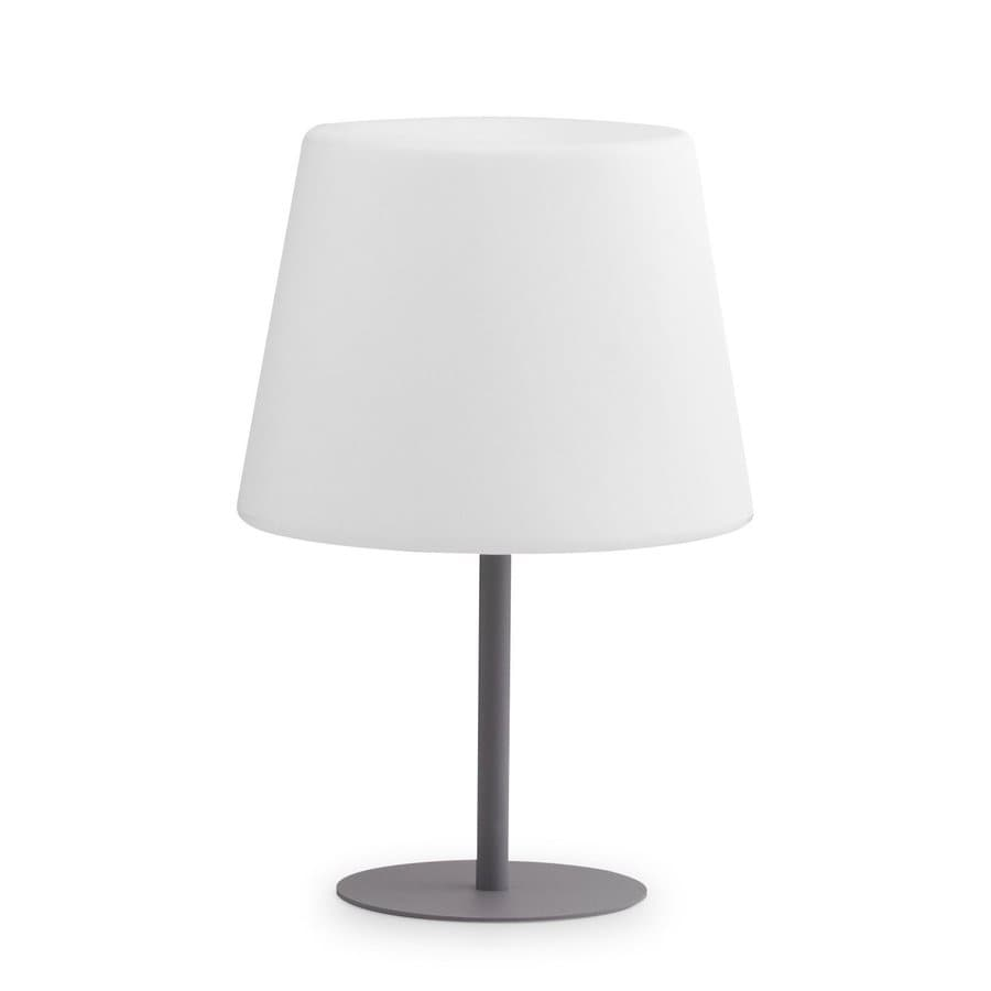 Zuo Modern Lumen 23.6-in White LED Indoor Table Lamp with Plastic Shade