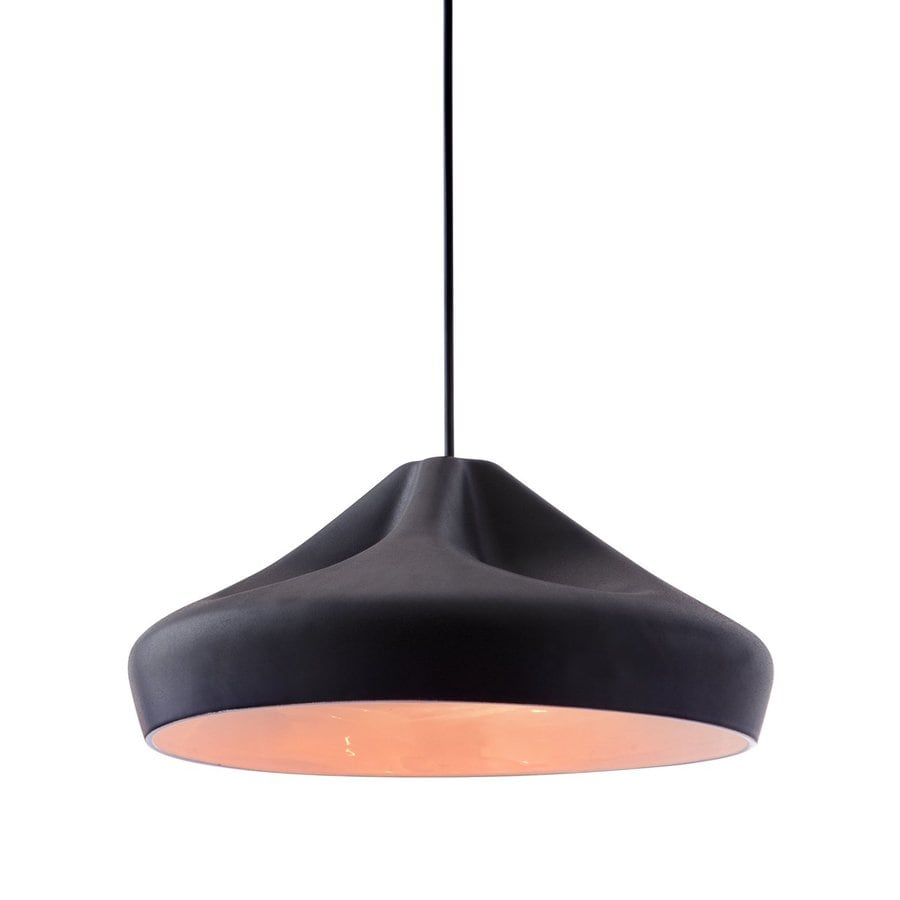 Zuo Modern Tropical 14-in W Black Hardwired Standard Pendant Light with Shade