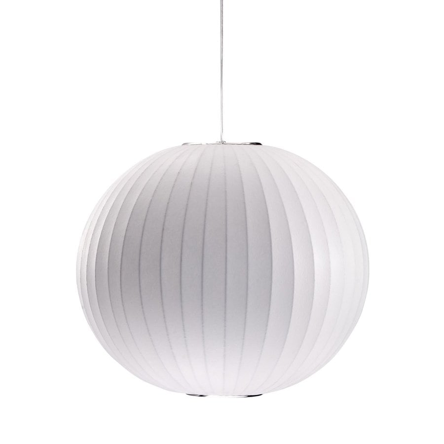 Zuo Modern Geostrophic 19.7-in White Single Globe Pendant