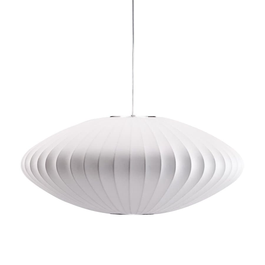 Zuo Modern Ageostrophic 26-in White Single Oval Pendant  sc 1 st  Loweu0027s : oval pendant light - azcodes.com