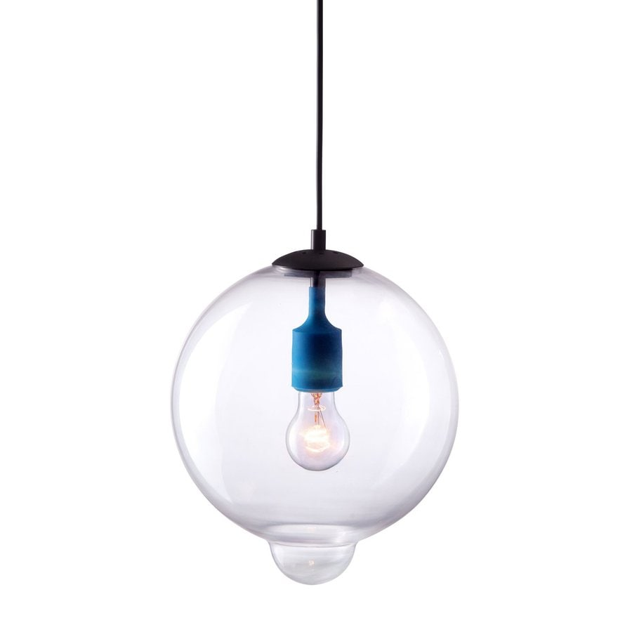 Zuo Modern Gradient 10-in Single Clear Glass Globe Pendant