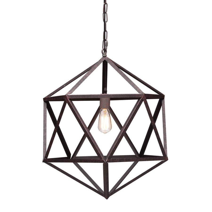 Zuo Modern Amethyst 21.3-in Rust Single Geometric Pendant