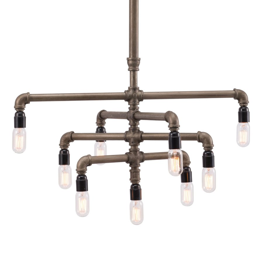 Zuo Modern Sugilite 31-in 9-Light Brass Chandelier