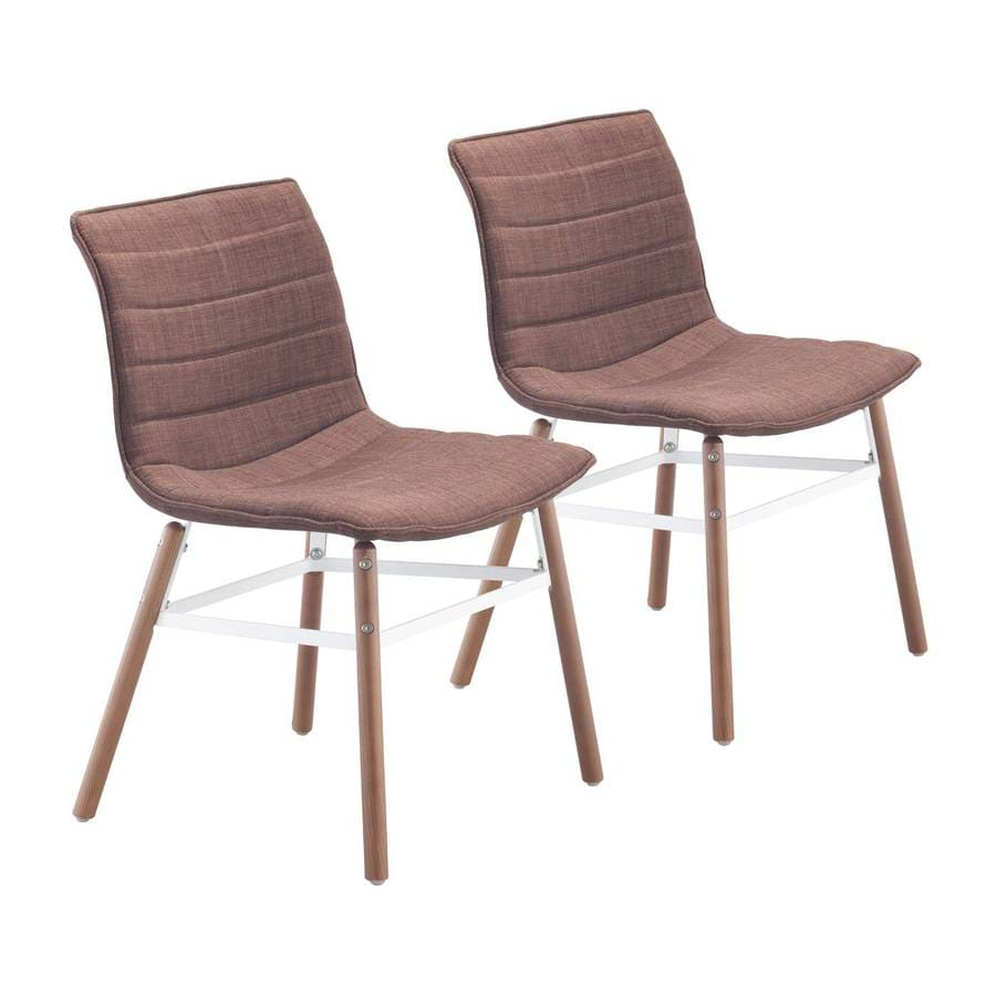 Zuo Modern Set of 2 Trondheim Wood Side Chairs