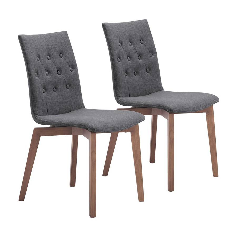 Zuo Modern Set of 2 Orebro Contemporary Side Chairs