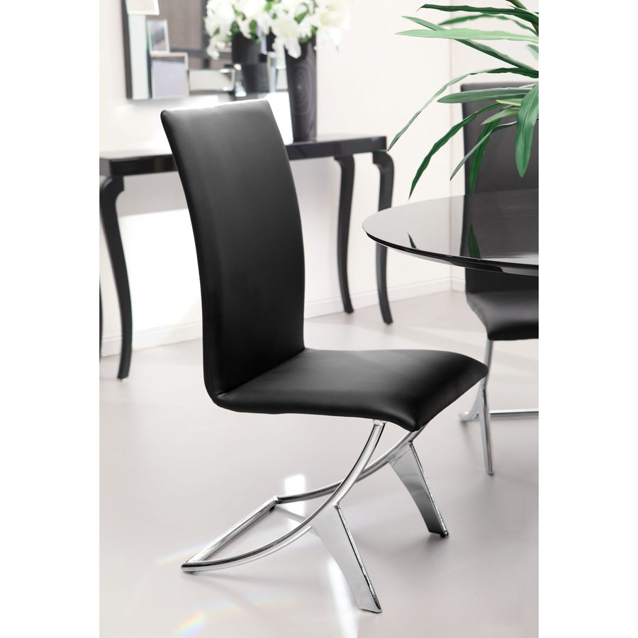 Zuo Modern Set of 2 Delfin Contemporary Side Chairs