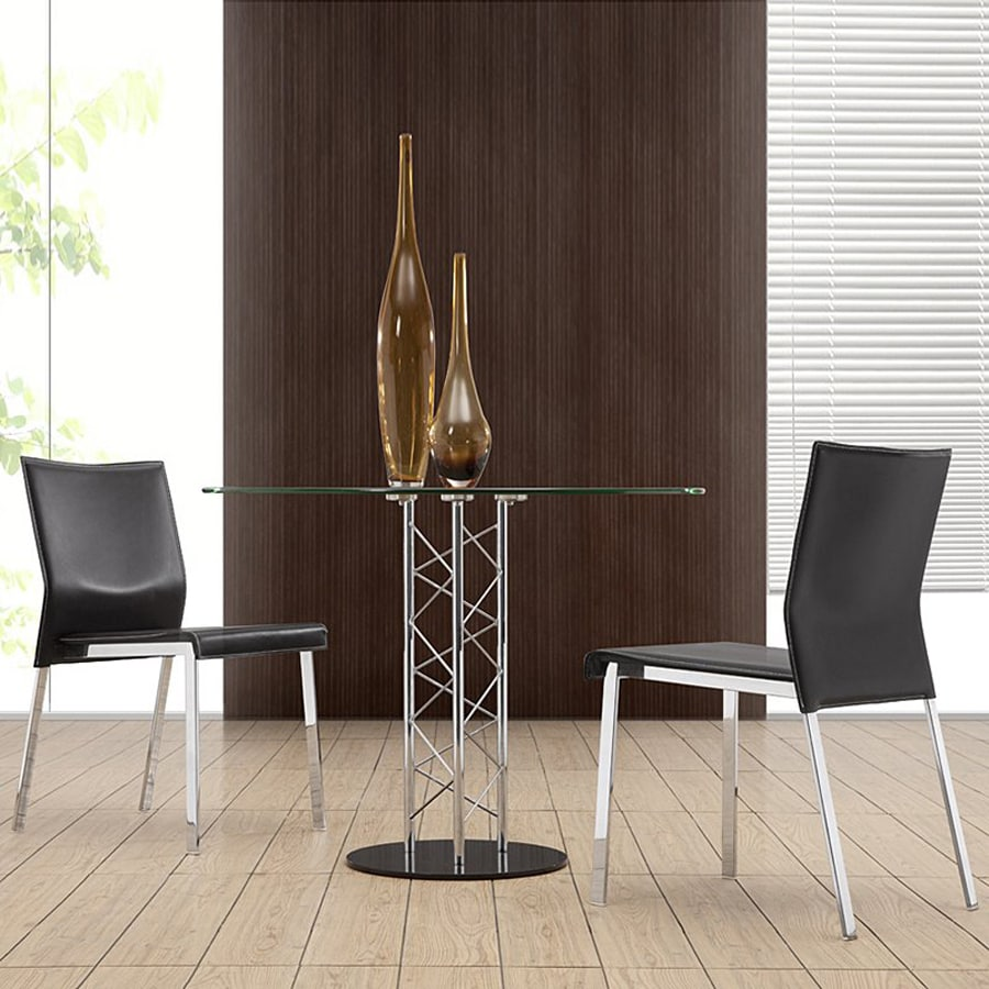 Zuo Modern Set of 2 Boxter Chrome Side Chairs