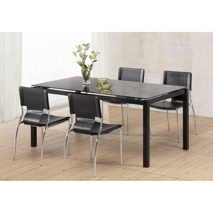 Zuo Modern Set of 4 Trafico Espresso/Chrome Side Chairs