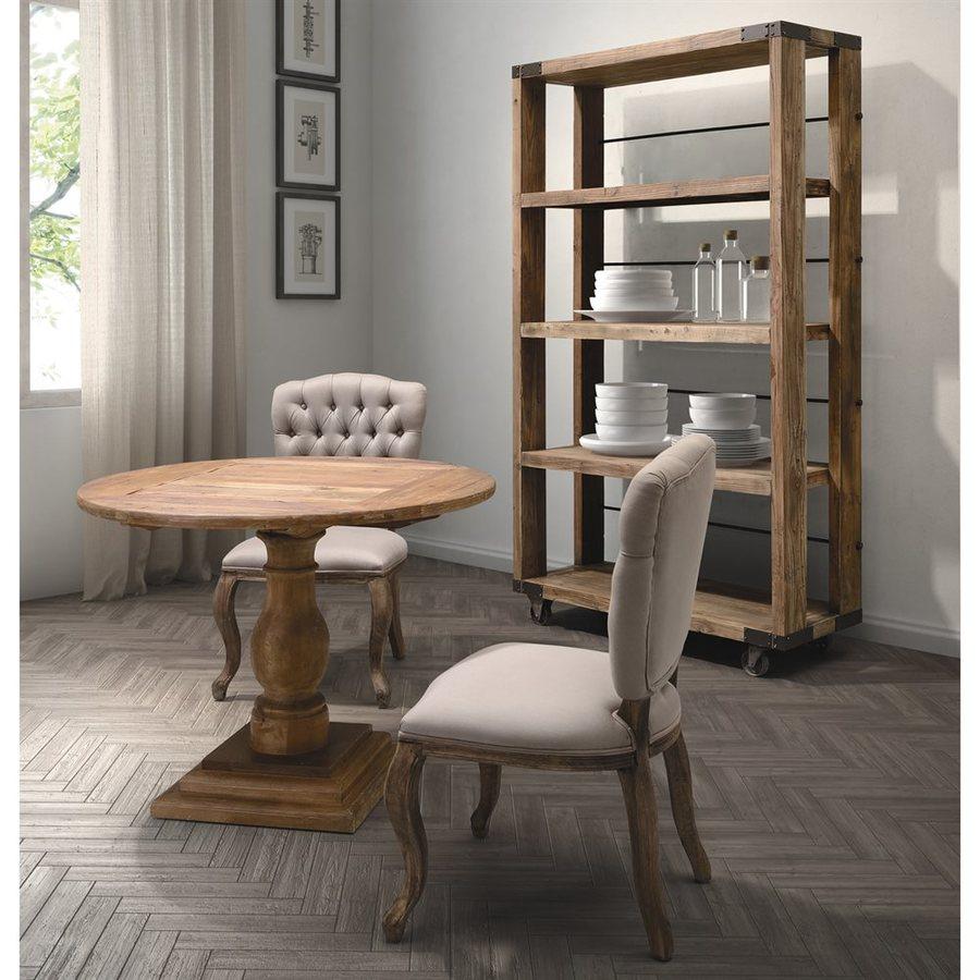 Zuo Modern Set of 2 Eddy Beige/Oak Side Chairs