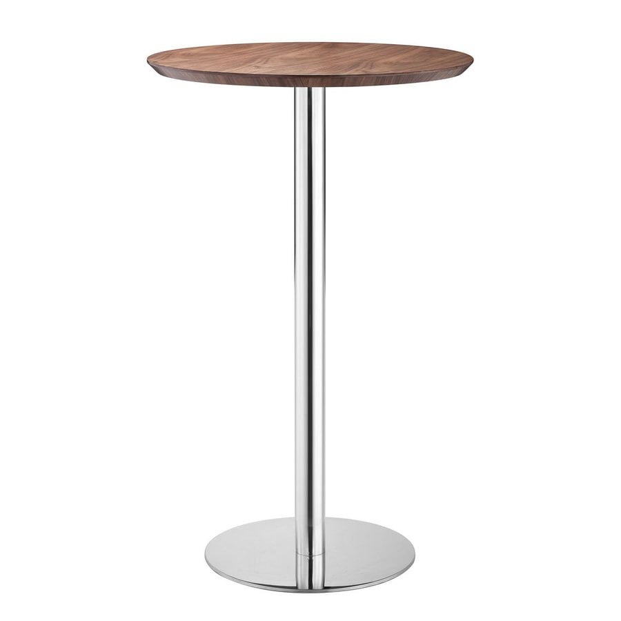 Zuo Modern Bergen Stainless Steel/Walnut Round Bistro Table