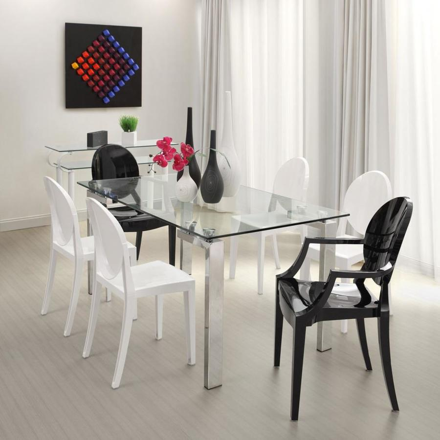 Shop zuo modern roca tempered glass dining table at for Tempered glass dining table