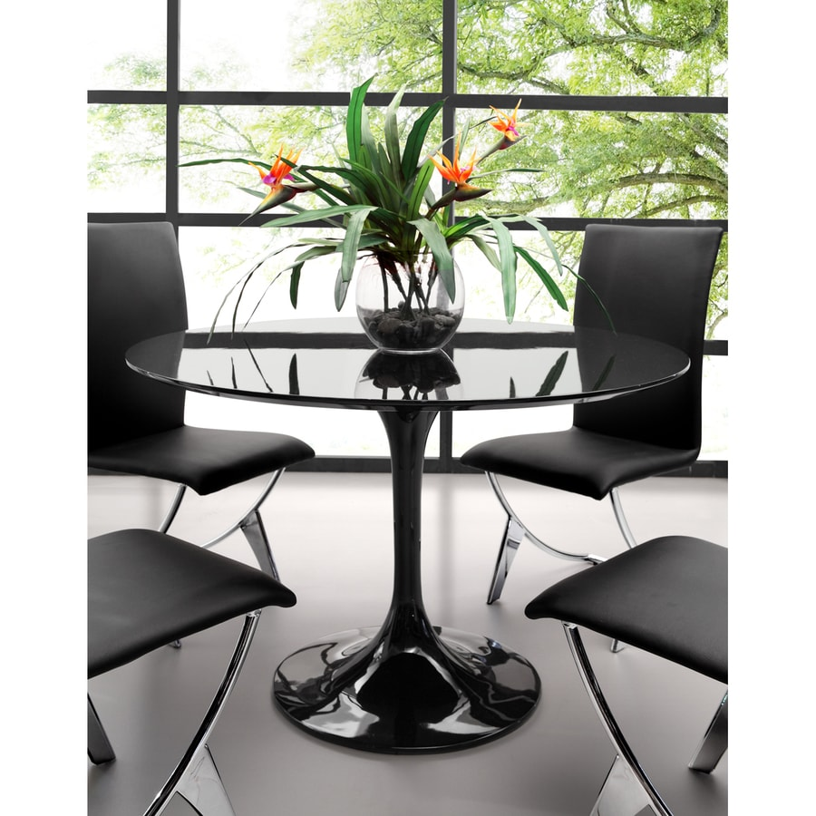 Shop Zuo Modern Wilco Black Round Dining Table at Lowescom