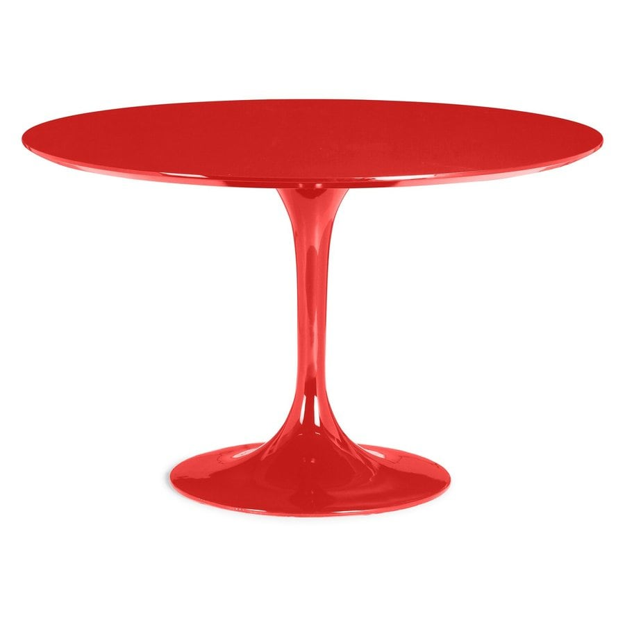 Zuo Modern Wilco Red Round Dining Table