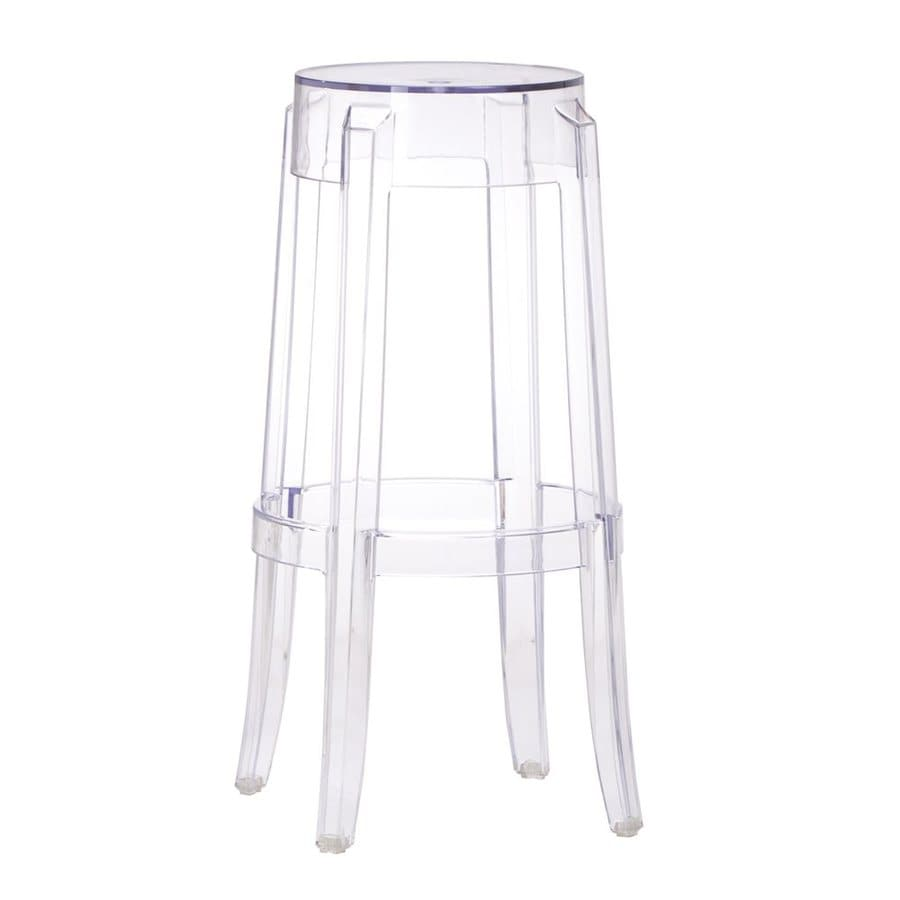 Zuo Modern Clear 29.5-in Bar Stool