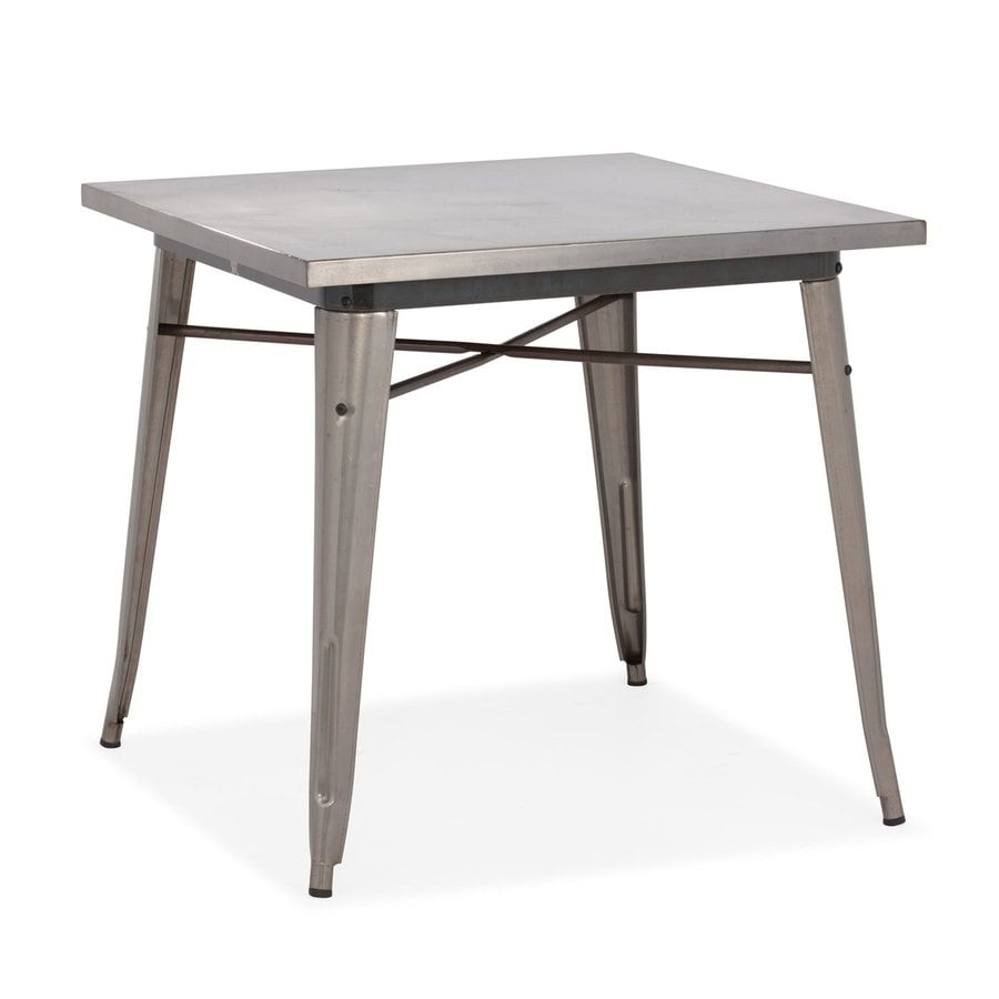 Zuo Modern Olympia Gunmetal Square Dining Table
