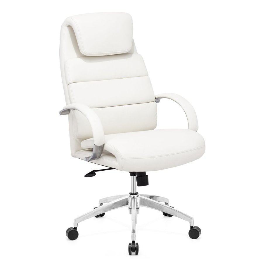 Zuo Modern Lider White Contemporary Manager Chair