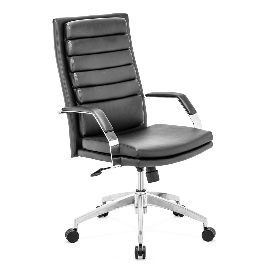 Zuo Modern Director Comfort Black Faux Leather Manager Office Chair
