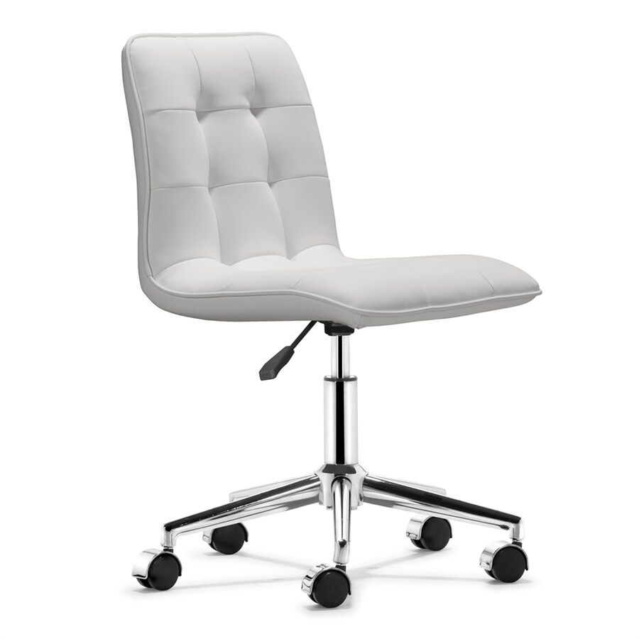Shop Zuo Modern Scout White Faux Leather Task Office Chair at ...