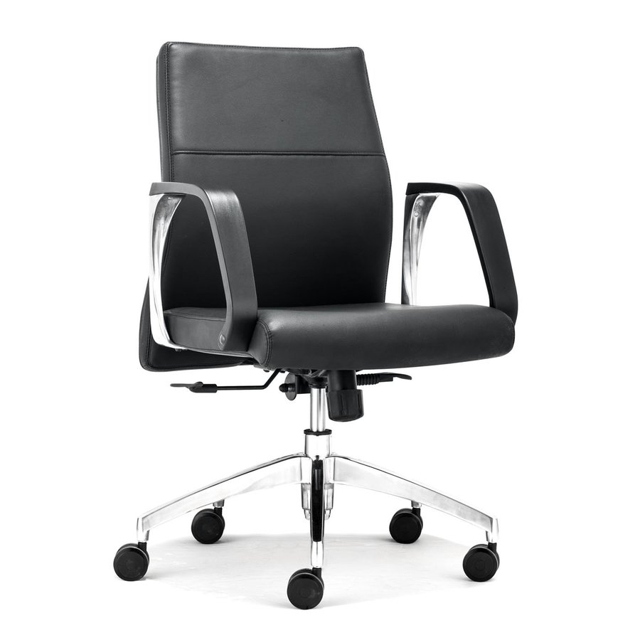 Zuo Modern Conductor Black Faux Leather Manager Office Chair