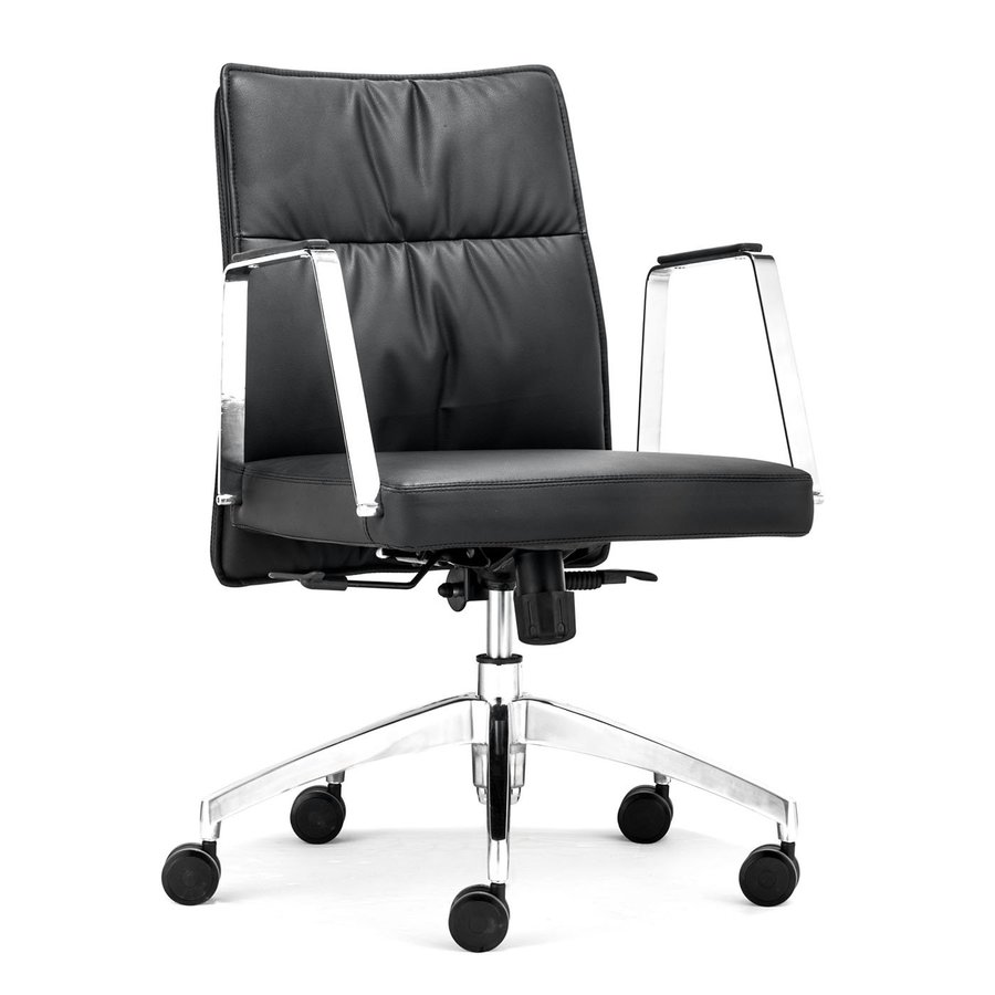 Zuo Modern Dean Black Faux Leather Manager Office Chair