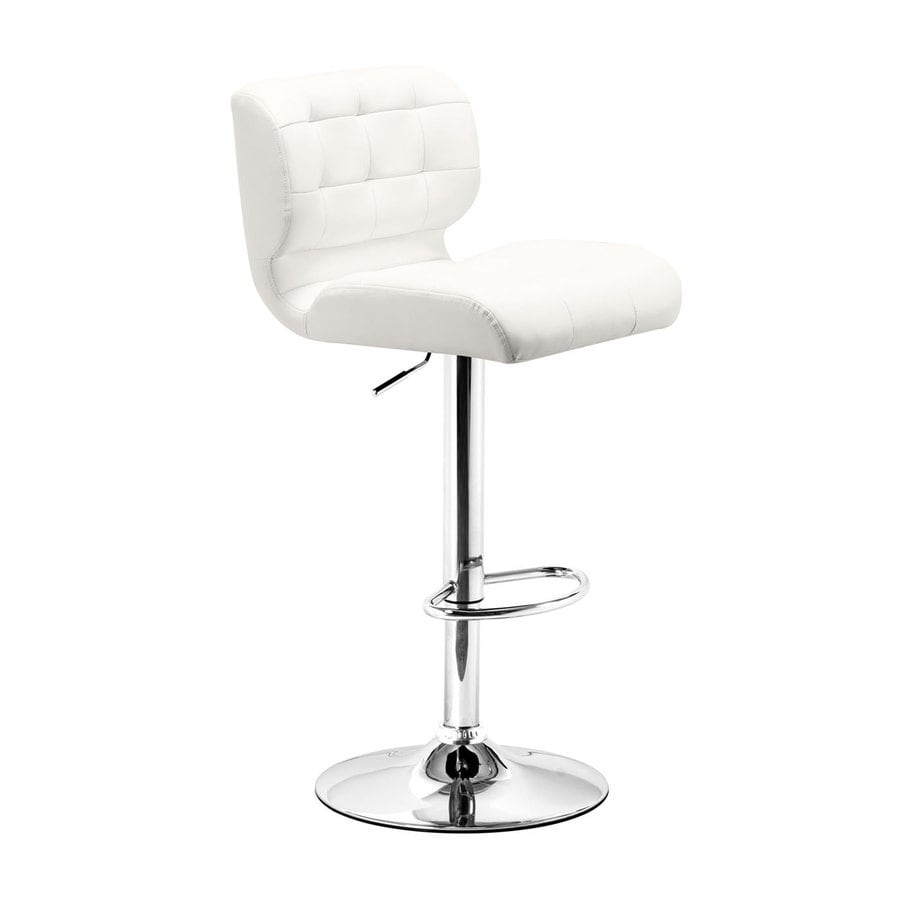 Zuo Modern Formula White 34.3-in Adjustable Stool