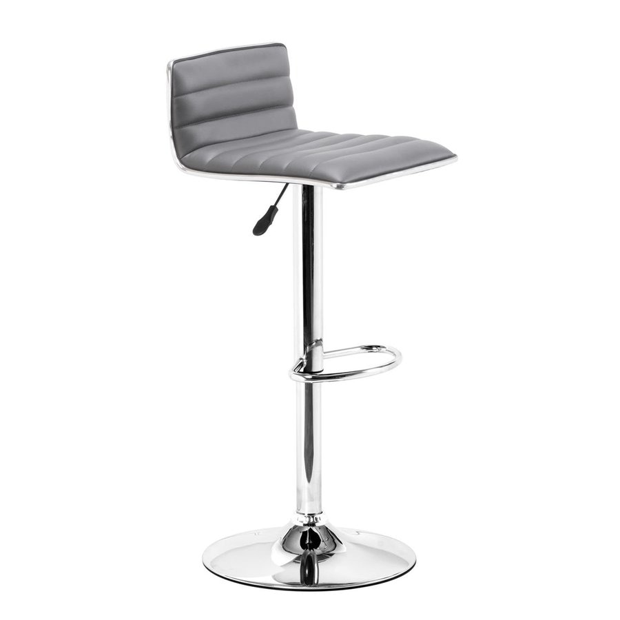 Zuo Modern Equation Gray 31.9-in Adjustable Stool