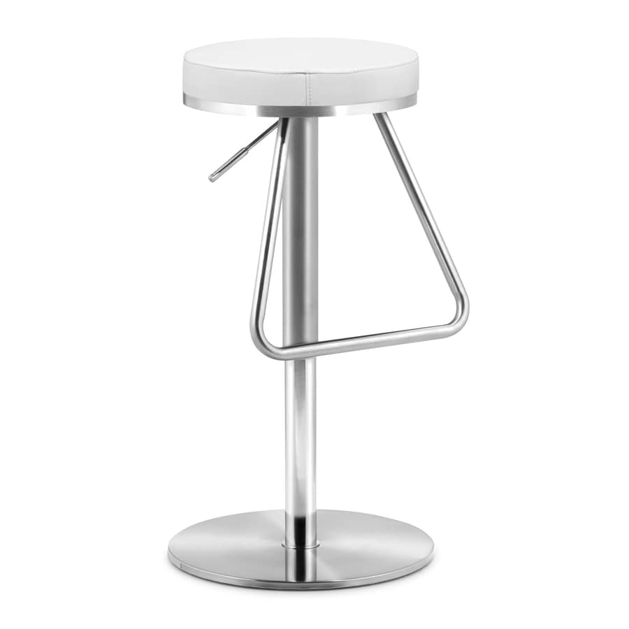 Zuo Modern Soda White 31-in Adjustable Stool