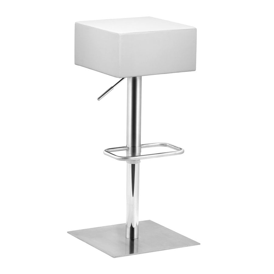 Zuo Modern Butcher White 35.4-in Adjustable Stool