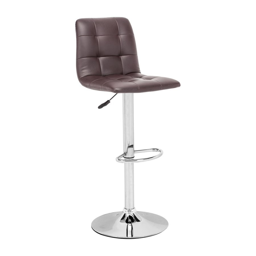 Zuo Modern Oxygen Casual Brown Adjustable Stool
