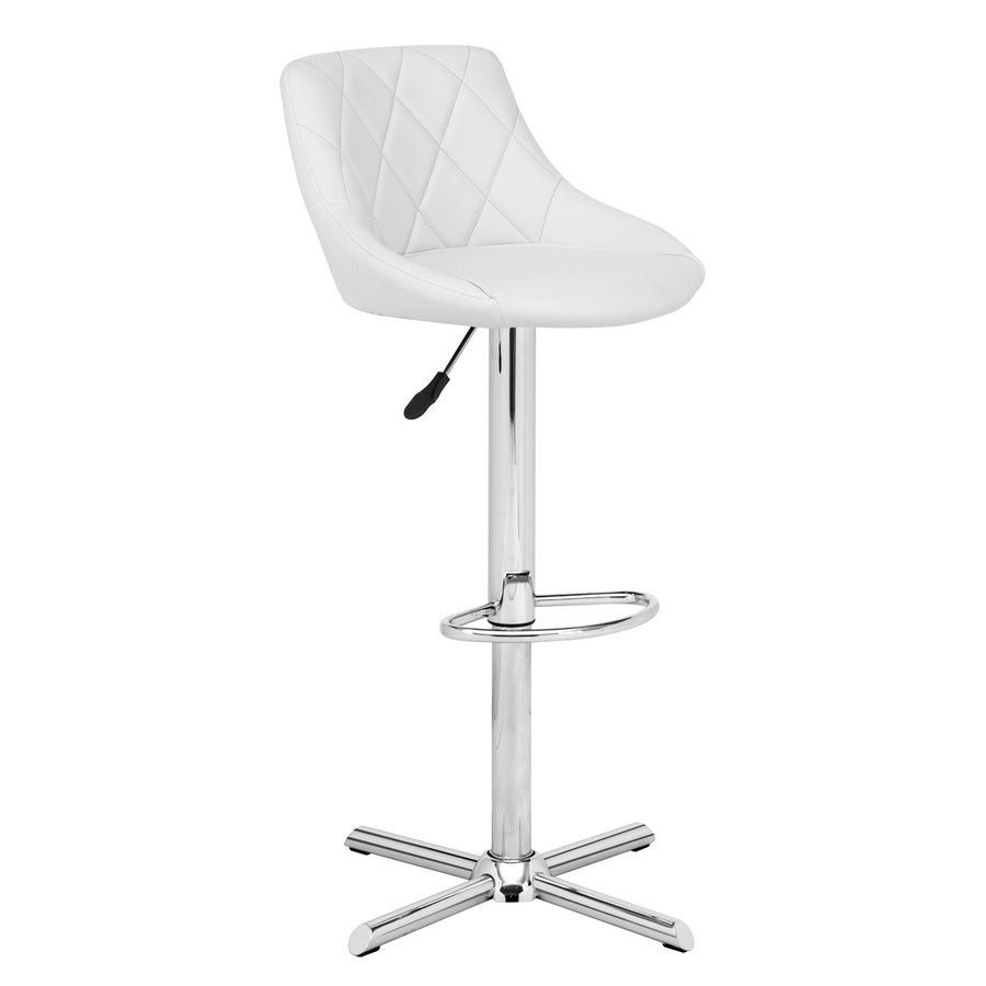 Zuo Modern Devilin White 32.7-in Adjustable Stool