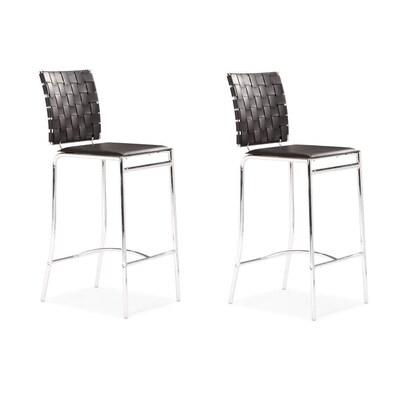 Brilliant Set Of 2 Criss Cross Black 26 In Counter Stool Inzonedesignstudio Interior Chair Design Inzonedesignstudiocom