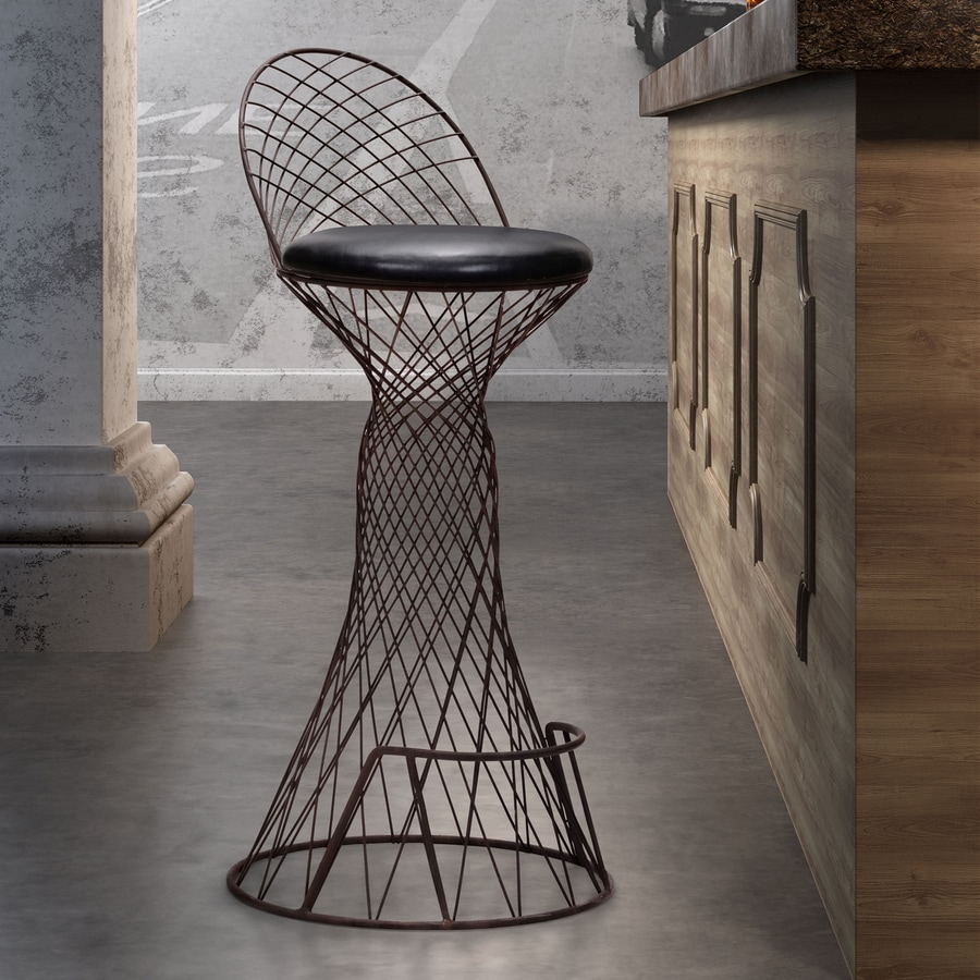 Zuo Modern Spindle Rust 33.2-in Bar Stool