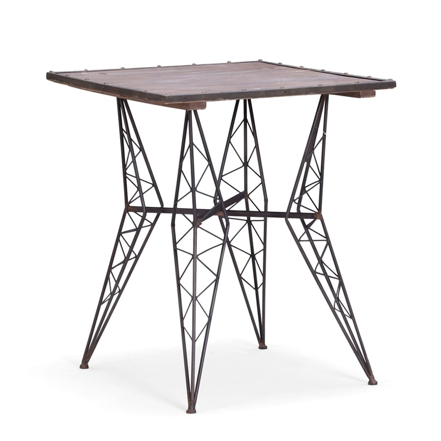 Zuo Modern Heavy Metal Rust Square Bistro Table