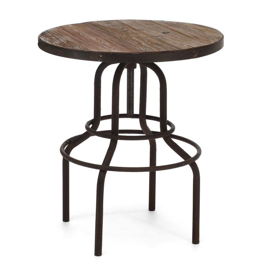 Zuo Modern Twin Peaks Distressed Natural Round Bistro Table