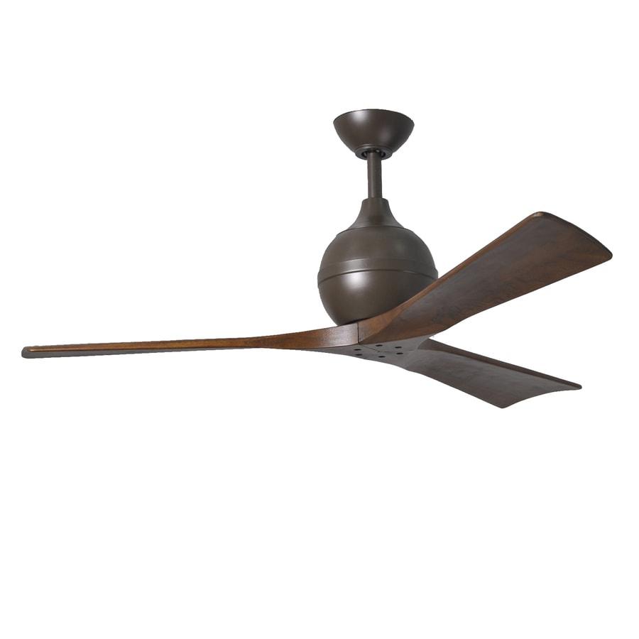 Matthews Irene 52-in Textured Bronze Downrod Mount Indoor/Outdoor Ceiling Fan with Remote (3-Blade)