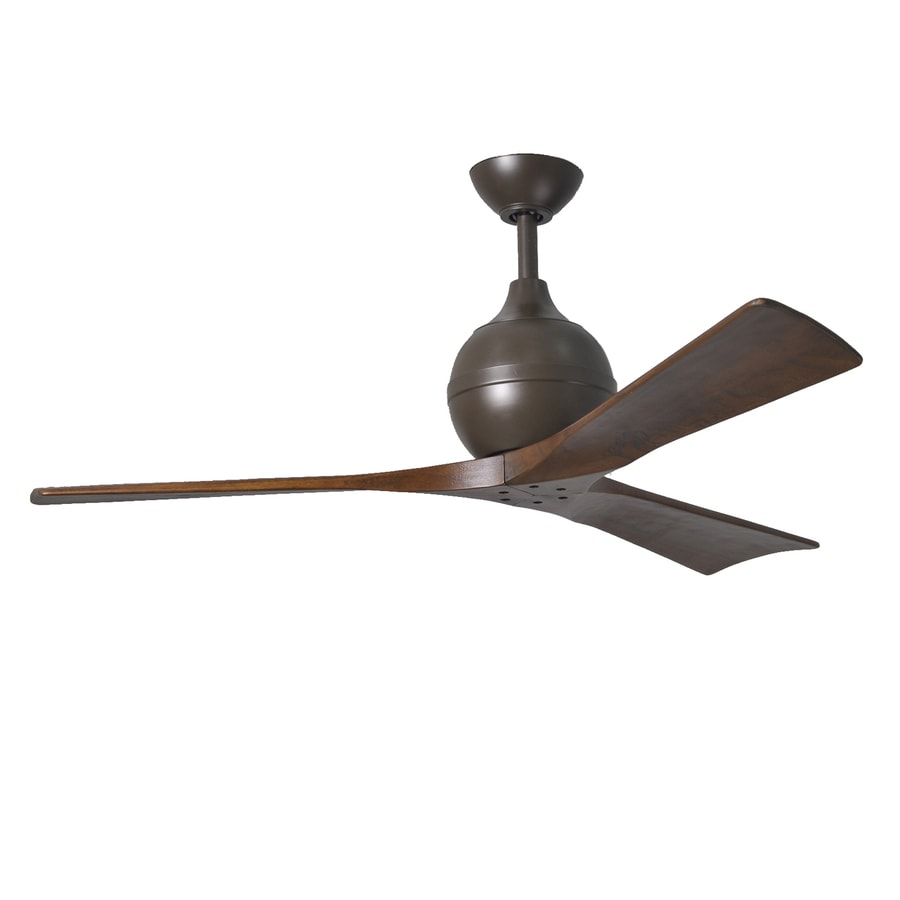 Matthews Irene 52-in Textured bronze Indoor/Outdoor Downrod Mount Ceiling Fan and Remote (3-Blade)