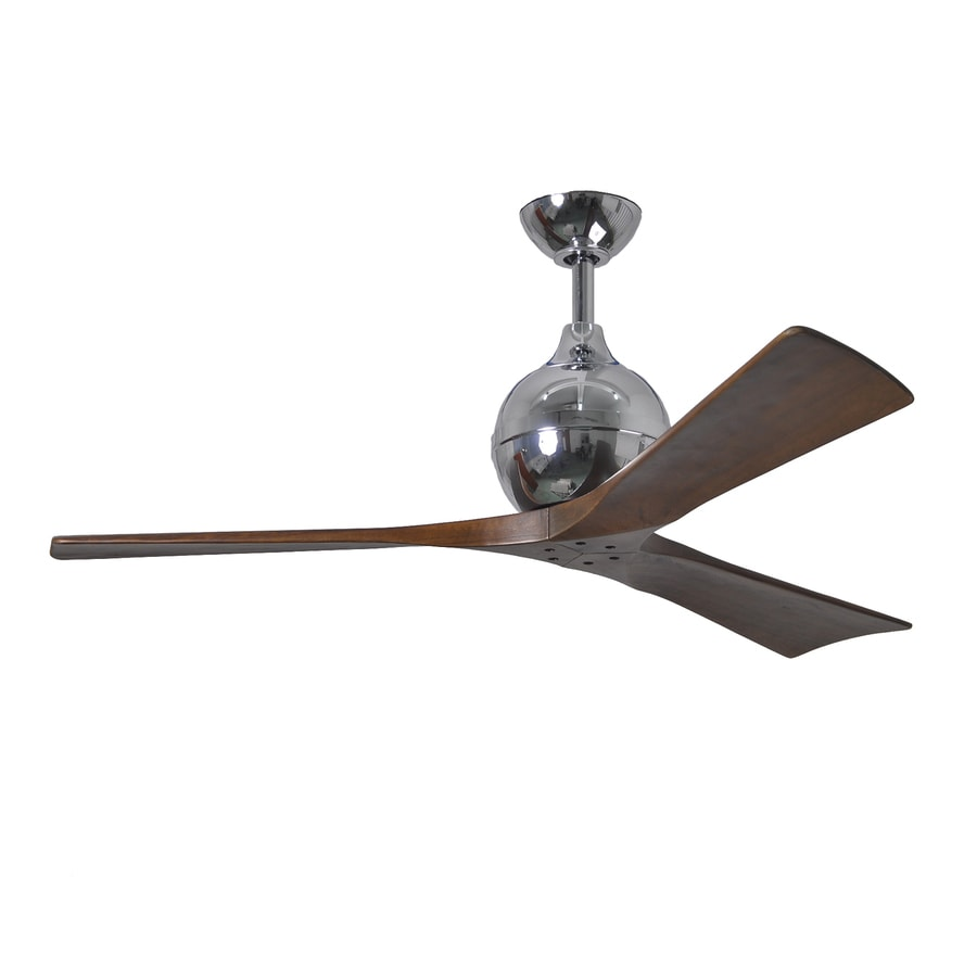 Matthews Irene 52-in Chrome Downrod Mount Indoor/Outdoor Ceiling Fan with Remote (3-Blade)