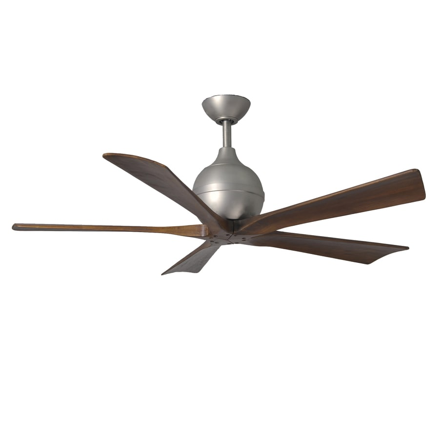 Matthews Irene 52-in Brushed Nickel Downrod Mount Indoor/Outdoor Ceiling Fan with Remote (5-Blade)