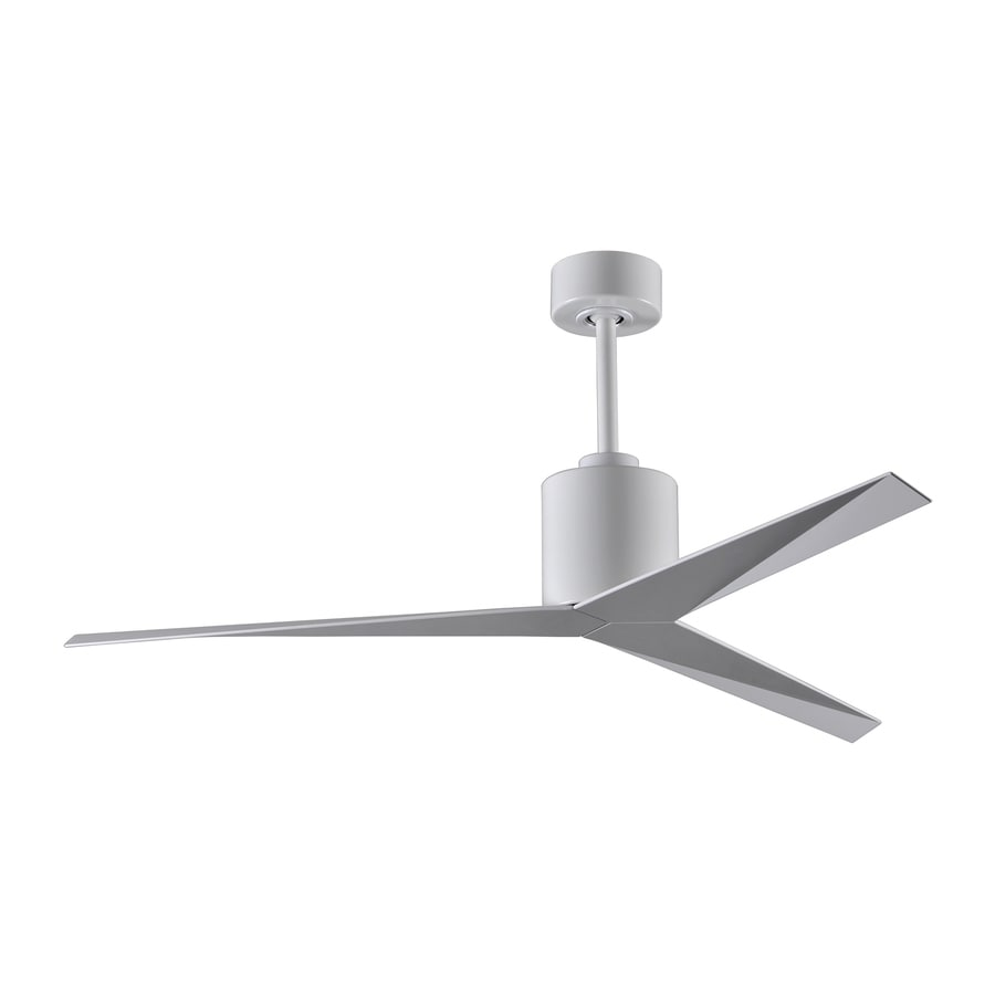 Matthews Eliza 56-in White Indoor/Outdoor Downrod Mount Ceiling Fan with Remote Control Included (3-Blade)