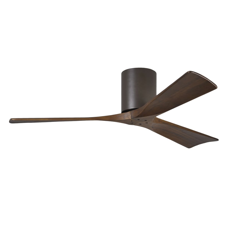 Matthews Irene 52-in Textured bronze Indoor/Outdoor Flush Mount Ceiling Fan and Remote (3-Blade)