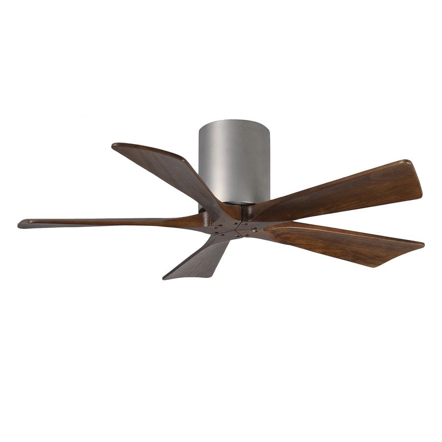Matthews Irene 42-in Brushed Nickel Indoor/Outdoor Flush Mount Ceiling Fan and Remote