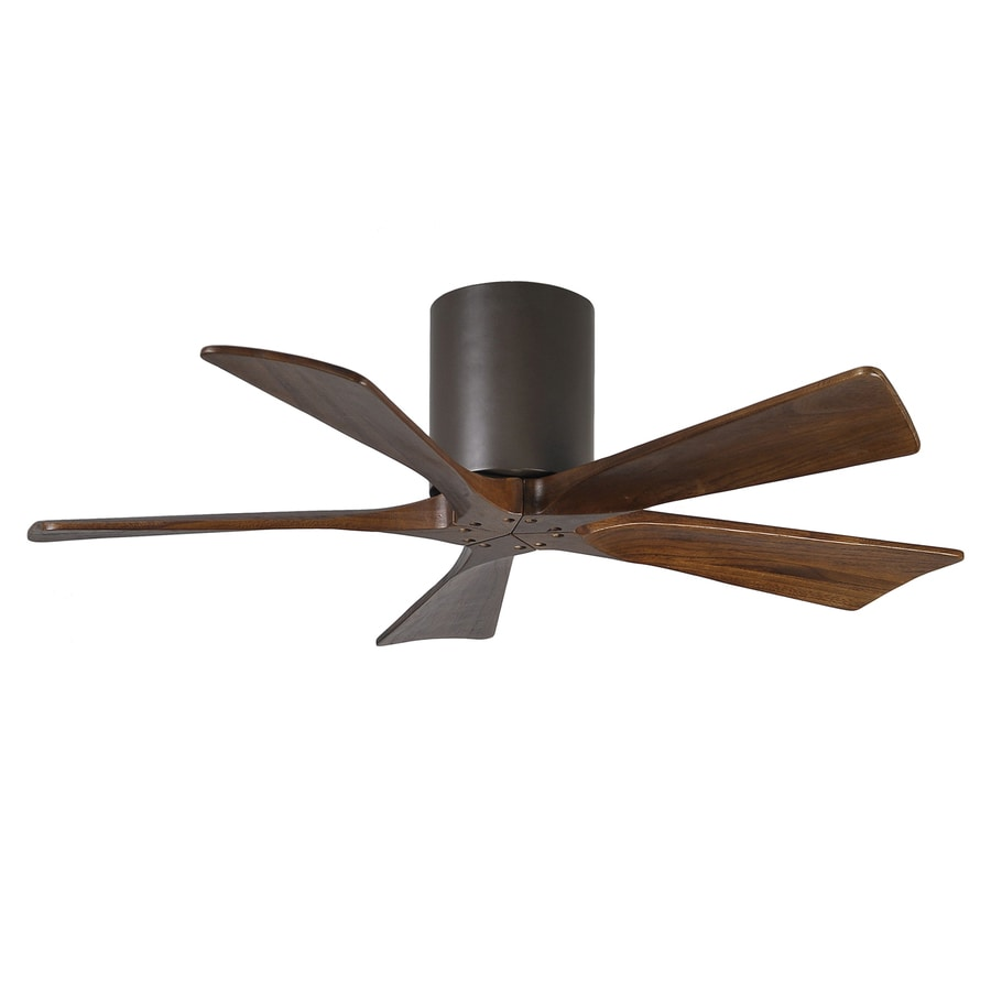 Matthews Irene 42-in Textured Bronze Flush Mount Indoor/Outdoor Ceiling Fan with Remote (5-Blade)