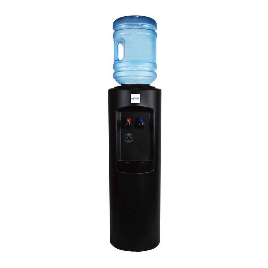 aquverse black toploading cold and hot water cooler energy star