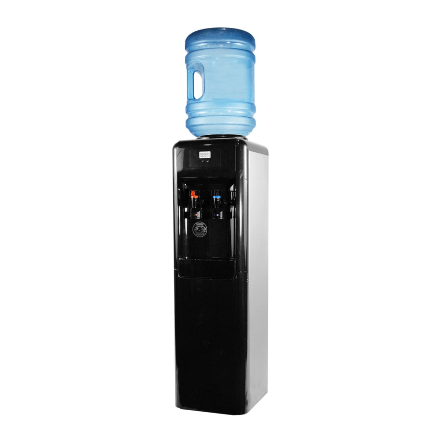 Shop Aquverse Black Top Loading Cold And Hot Water Cooler