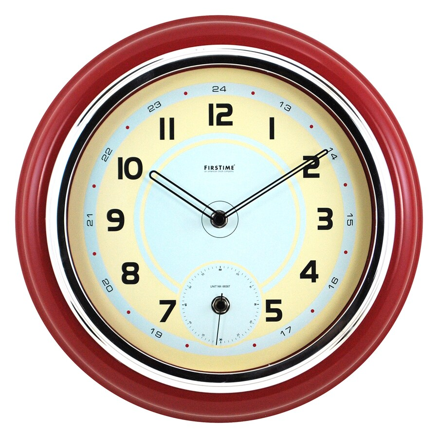 FirsTime Manufactory Classic Kitchen Analog Round Indoor Wall Standard Clock