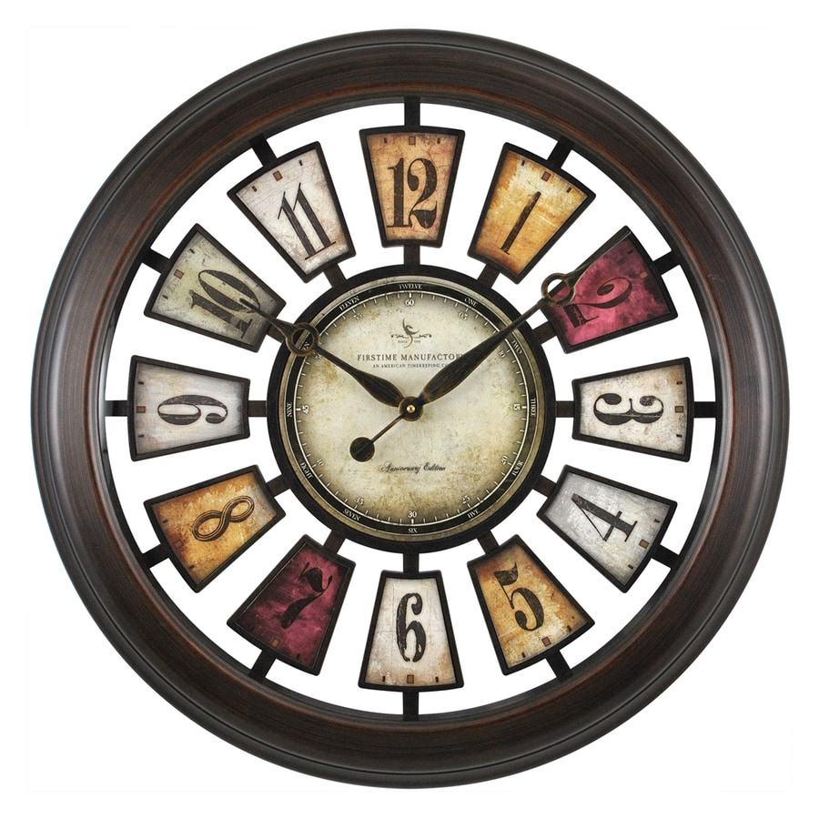FirsTime Manufactory Numeral Plaques Analog Round Indoor Wall Standard Clock